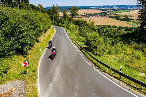 Motorradfahren im Eichsfeld ©Peter Wahl