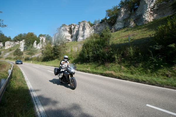Motorradfahren in Franken ©Peter Wahl