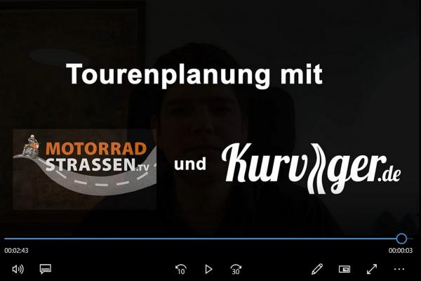 Tourenplanung mit Kurviger.de - So wird's gemacht