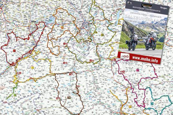 Motorradtourenkarte SALZBURGER LAND © MOTORRADSTRASSEN - Ausgabe 3/2021