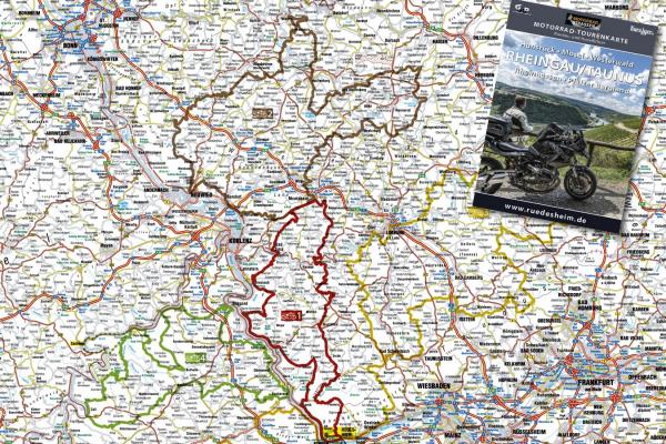 Motorradtourenkarte RHEINGAU/TAUNUS © MOTORRADSTRASSEN - Ausgabe 3/2021