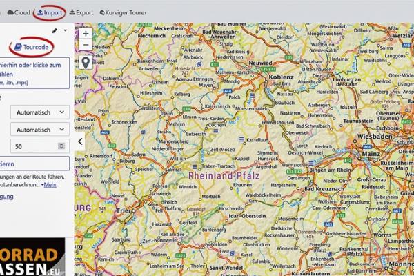 KURVIGER Tourcodes aus Printprodukten verwenden